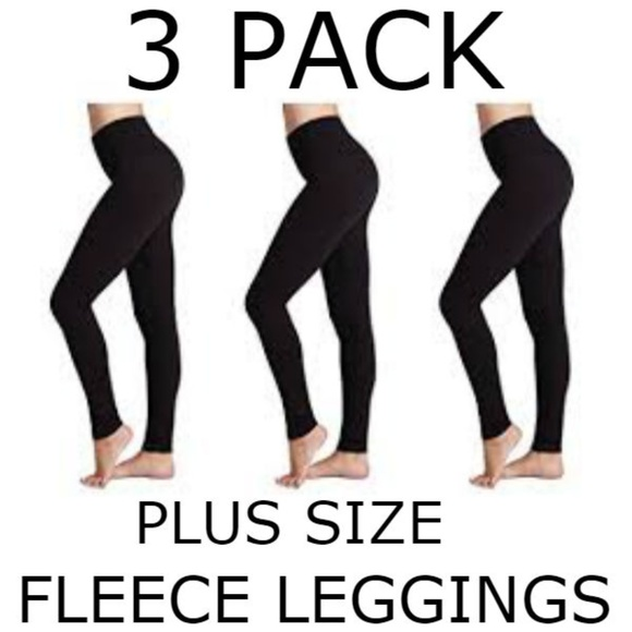 bc4af2722d479c Pants | Nwt 3 Pack Black Fleece Lined Leggings Plus Size | Poshmark